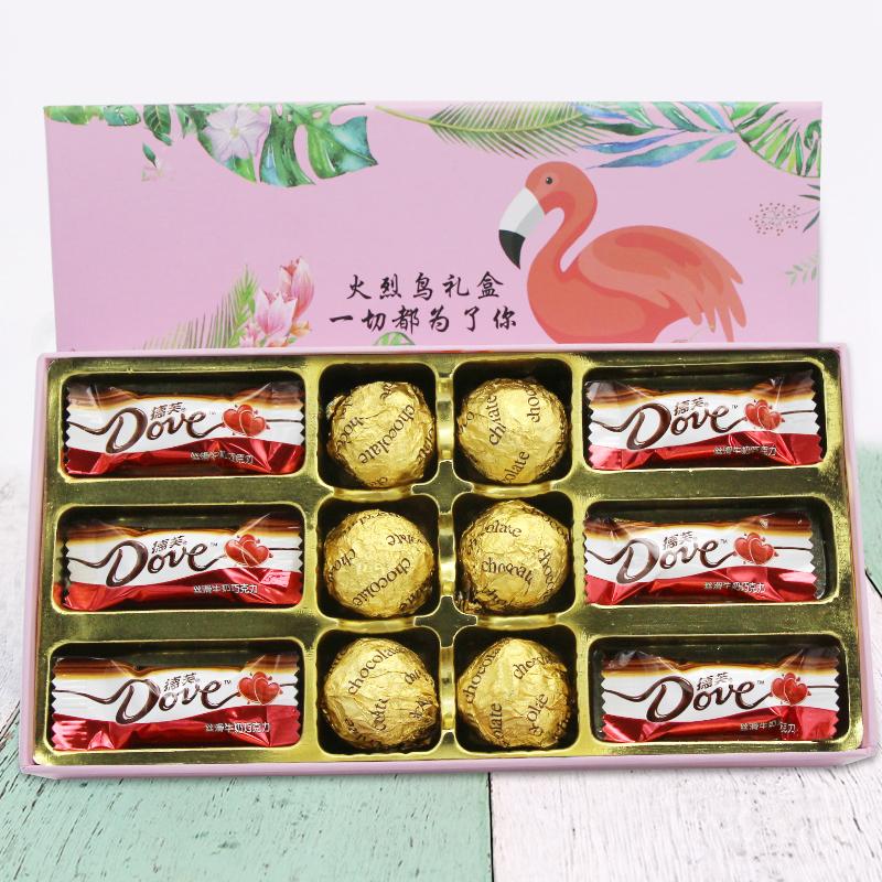 德芙巧克力礼火烈鸟盒装