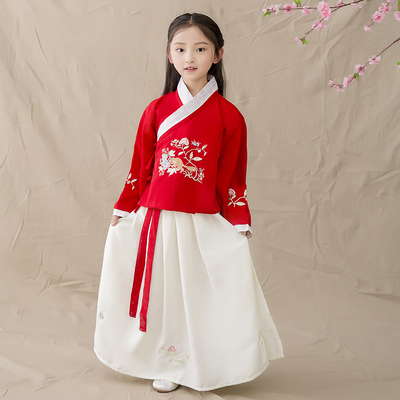Children's costume, women's Han dress, princess, fairy, antique, elegant, fresh and elegant costume.