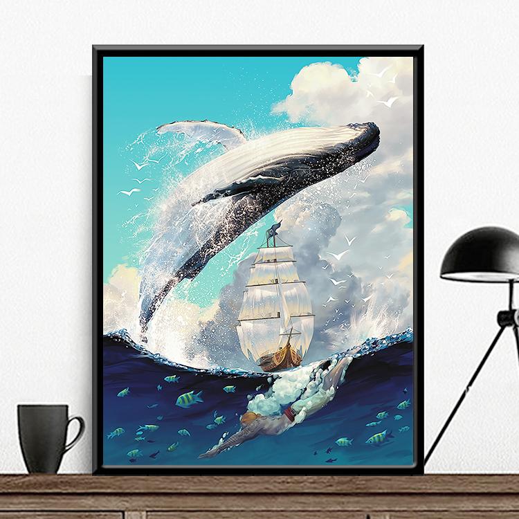 Черный голубой 570-кит из воды