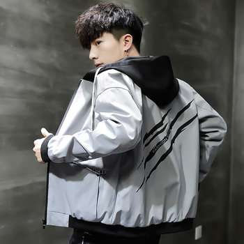 Men's jacket spring and autumn 2019 new jacket men's Korean trend loose and handsome autumn and winter casual baseball uniforms