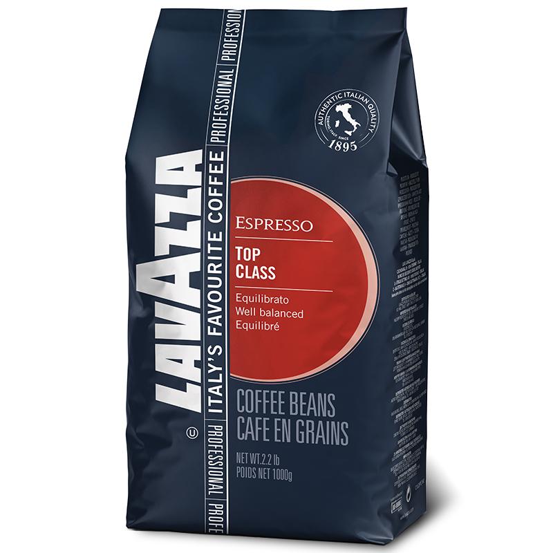 意大利进口,Lavazza 乐维萨 TOP CLASS 经典纯黑咖啡豆 1Kg*2袋