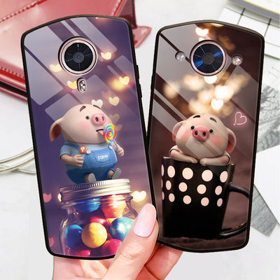 Cute cartoon cute pig pug, beautiful figure T9 mobile phone shell pig year network red seed map T8 tempered glass shell Meki M8 tidal brand personality beauty map M6 creative mirror T8S teenagers couple