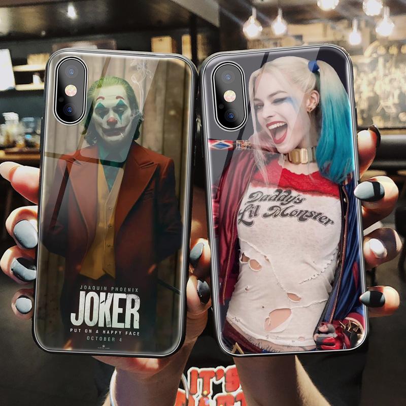 小丑手机壳iphone11个性男女x小丑女iphone11promax潮牌xr流行8p情侣xs玻璃创意7plus网红xsmax苹果6s欧美款