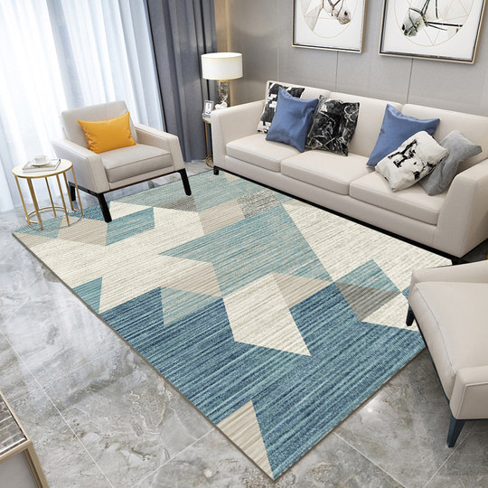 Carpet living room bedroom full bed bedside blanket coffee table carpet pad simple modern Nordic style rectangular European ins