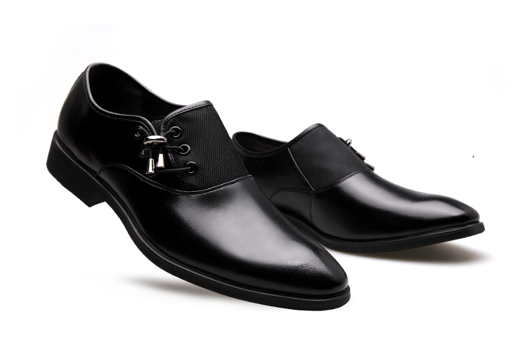 s wing tip style business casual shoes pointed