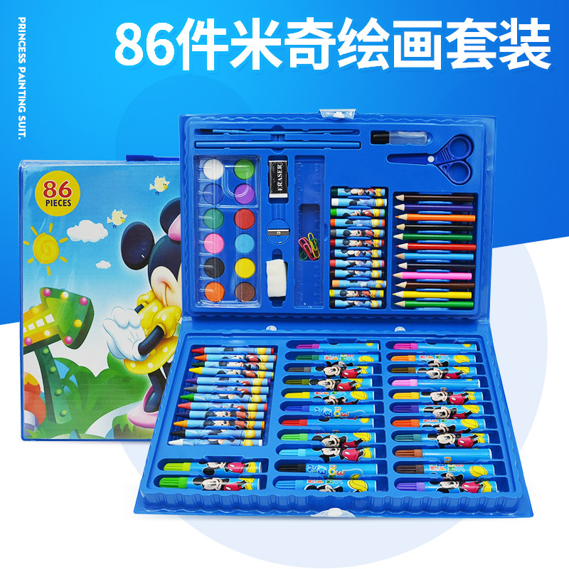 86 PAINTING SETS MICKEY BLUE TO SEND 2 COLORING BOOK
