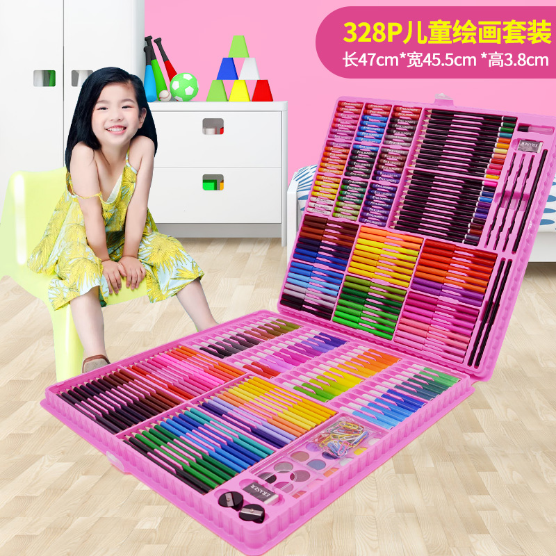 328 PIECES OF PINK PAINTING SET + GIFT BAG  BUY ONE GET 17