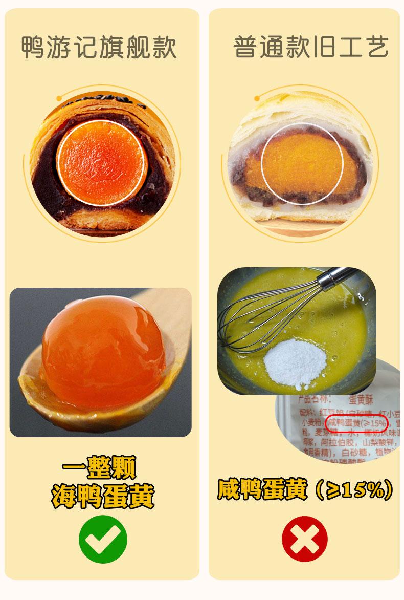 鸭游记网红咸蛋黄酥海鸭蛋4枚装 13