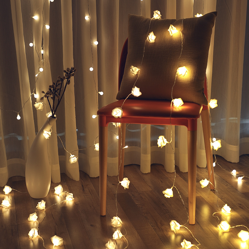 Fi led mesh red small lantern flashing lamp string lamp starry girl heart dormitory bedroom room decoration star lamp