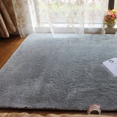 Nordic net red floor mat girl bedroom full shop room dressing table cute plush mat gray bedside carpet