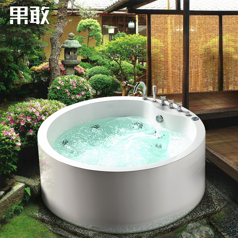 Фруктовая круглая ванна, термостатическая массажная ванна, отдельно стоящая интерьер Японская ванна Ke Li 1,35 метра 1,5 метра 061