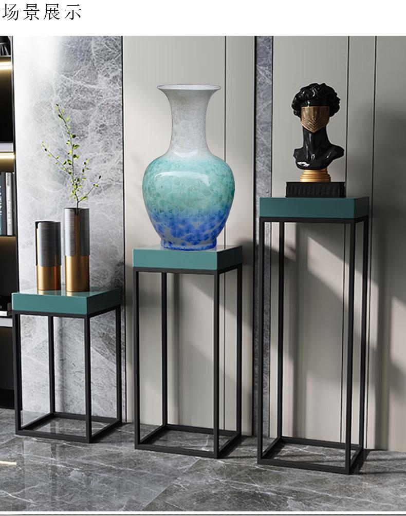 Jingdezhen ceramic up porcelain crystalline glaze contracted sitting room of large modern vase vase decoration furnishing articles