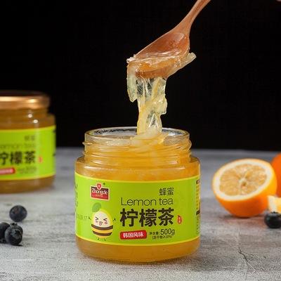 众德蜂蜜柚子柠檬茶500g罐装冲水喝的饮品 泡水冲饮冲泡水果茶酱