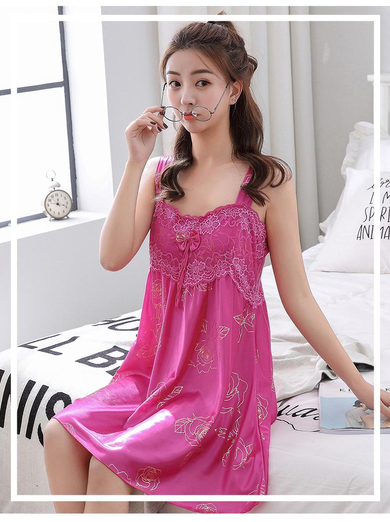 冰丝绸长款吊带睡衣 - 1505147909 - 太阳的博客