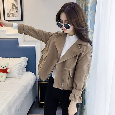 150cm short dress ladies fall and winter with a small code xs woolen jacket female students short paragraph small incense shirt tide