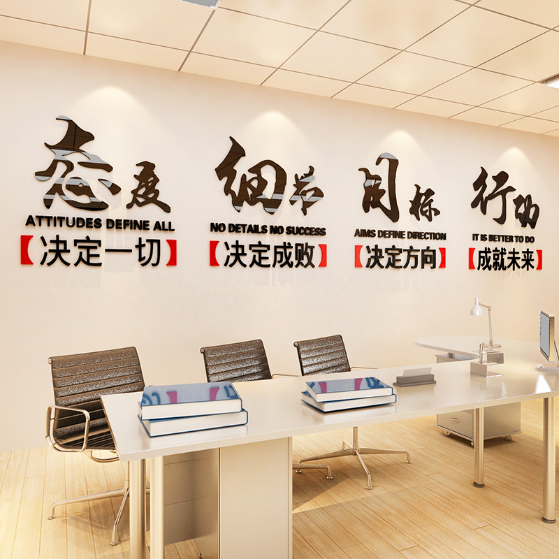 usd 21.54] inspirational wall stickers company culture wall