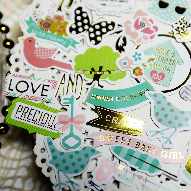 Rabbit house junkjournal fresh European and American air stickers iron hand account stickerhand account material 9