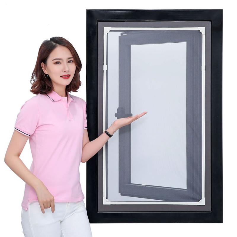 磁吸纱窗网自装防蚊隐形沙窗门纱网家用自粘贴定制免打孔窗户磁铁