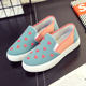 Spring new canvas shoes women's shoes student single shoes Lok Fu shoes one foot slip flat female casual lazy shoes