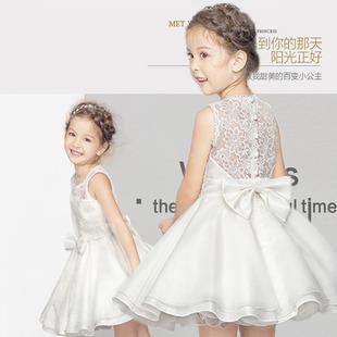 Ребенок юбка летний костюм платье принцессы девочки платье беспорядочного пряжа ребенок платья девушка день рождения белый свадьба юбка