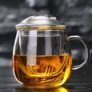 【水趣】透明茶水分離玻璃泡茶杯