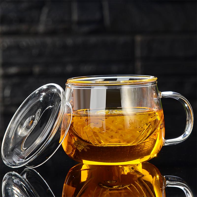 【水趣】耐热泡茶玻璃过滤花茶杯子