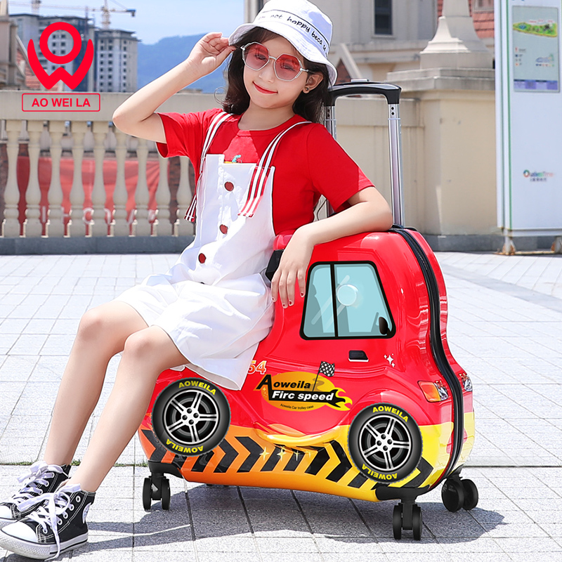 Can ride children's lever box net red suitcase million wheel men and women travel box baby cart treasure mother reducing the burden box