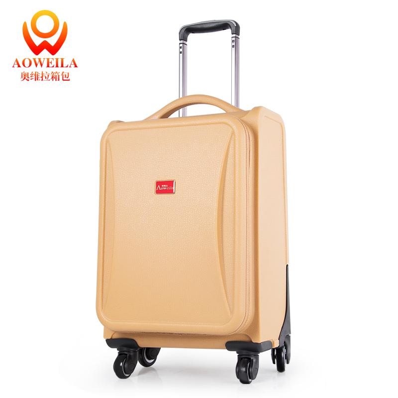 Aoweila/奥维拉拉杆箱万向轮复古行李箱防刮旅行箱包男女21寸密码箱登机箱