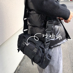 ONEMAX/2020 new Japanese street tooling functional casual messenger bag trendy men and women black multifunctional waist bag