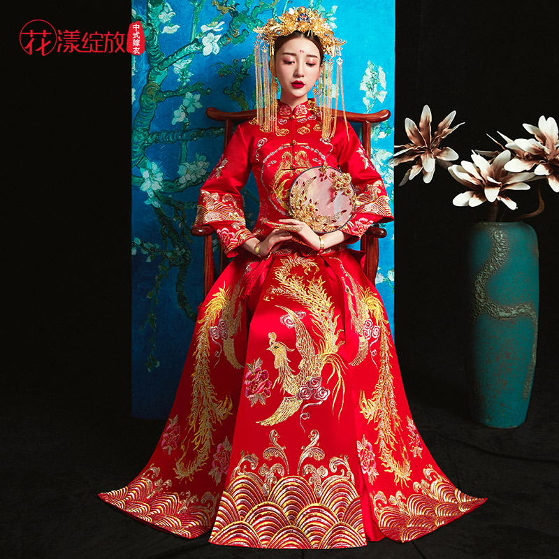 xiuhe clothing bride 2018 new autumn and winter toast clothing