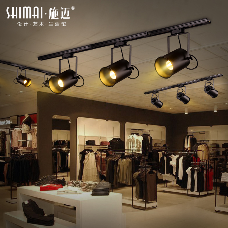 industrial track lighting industrial track lighting zoom. Vintage American Industrial Style Track Lighting Ideas Living Room Surface Mounted Bar Showroom Lamps Personality LED Clothing Store Zoom D