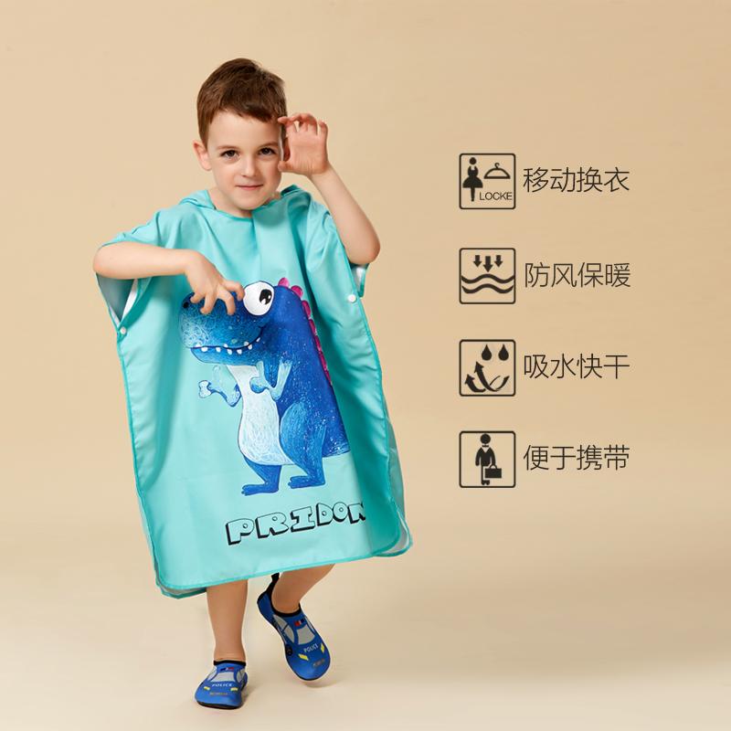 Ребенок халаты быстросохнущие спа плавать плащ ребенок абсорбент полотенце мультики печать праздник песчаный пляж полотенце солнцезащитный крем плащ