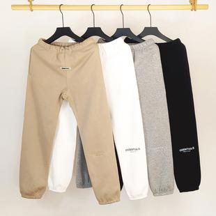 纯棉长裤男高街抽绳反光运动卫裤潮