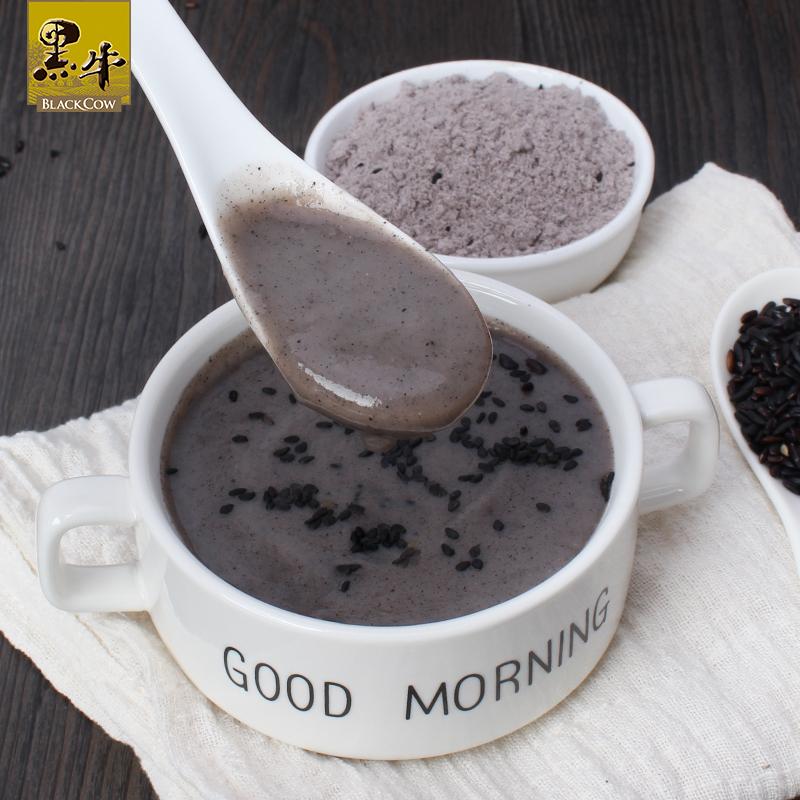黑牛醇香黑芝麻糊480g营养早餐冲饮食品家庭即食代餐 健康饱腹
