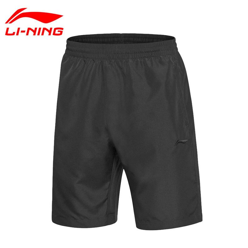 Quần short thể thao Li Ning quần nam mùa hè năm điểm chạy tập thể dục thoáng khí nhanh khô quần nhẹ thể thao giản dị - Quần thể thao