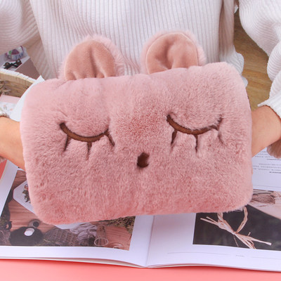 Tanchun hot water bottle charging explosion-proof plush cute warm baby electric heating treasure student water injection removable and washable hand warmer girl
