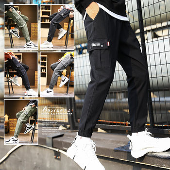 Spring and autumn pants male Korean version of the trend and feet straight pants overalls loose, casual trousers wild tide brand
