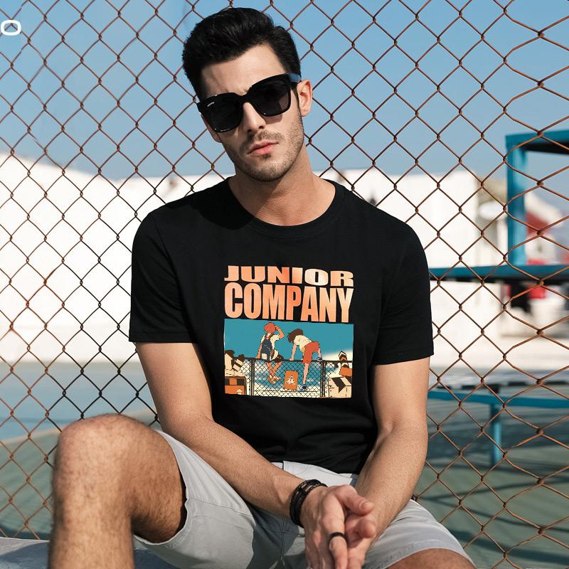 夏装纯棉丅恤短袖t恤男衣服潮流百搭宽松男装半袖打底衫体恤潮牌