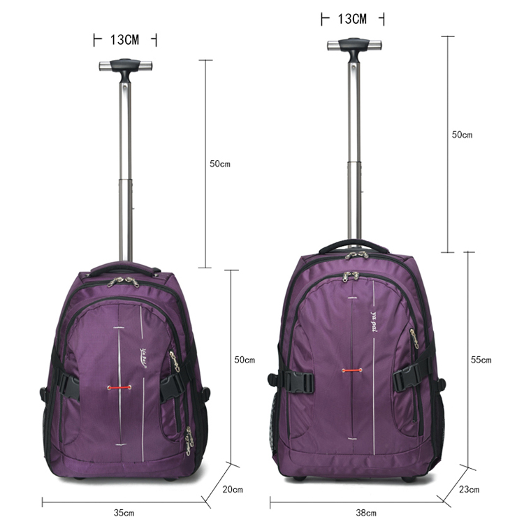 New Trolley Bag Backpack Computer With Wheels Travel Men And Women Boarding Large