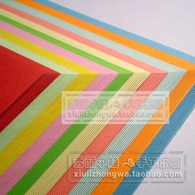 Цветная бумага / Бумага для оригами Красивая zhongwa начинающих детей декупаж листы студентов резной квадратных бумаги двусторонняя цвет цвет бумаги A4