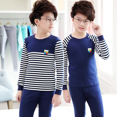Children's clothing boy underwear set 2018 new children's autumn clothes Qiuku suit children's children warm cotton