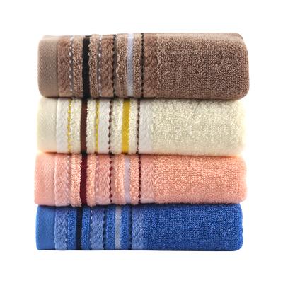 4条装 纯棉毛巾柔软家用洗脸巾吸水不掉毛全棉成人洗澡男女面巾