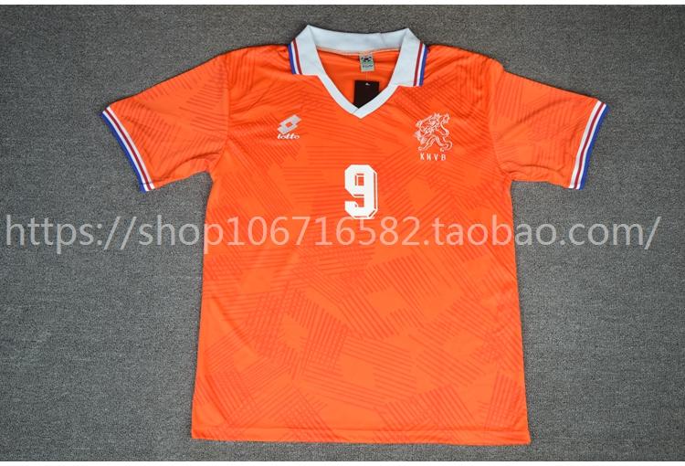 運動達人2192歐洲杯荷蘭丹麥決賽范巴斯滕古利特里杰卡爾德三劍客主場球衣