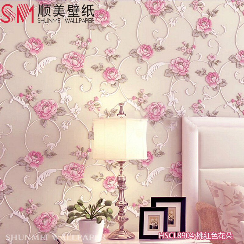 Usd 60 89 Shunmei Bedroom Wallpaper Warm And Romantic 3d Three Dimensional Pastoral Living Room Beauty Salon Background Wall Paper Rose Wedding Room Wholesale From China Online Shopping Buy Asian Products Online