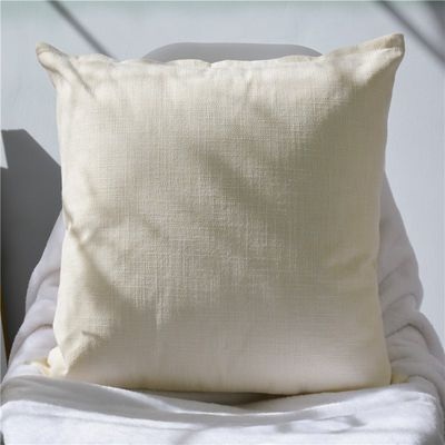 Sofa linen big hug solid color without core Nordic pillow square living room pillowcase long cushion size custom