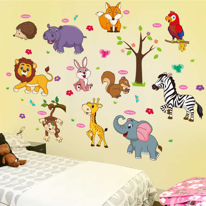 Usd 1921 Cartoon Stickers Kindergarten Childrens Room Wall