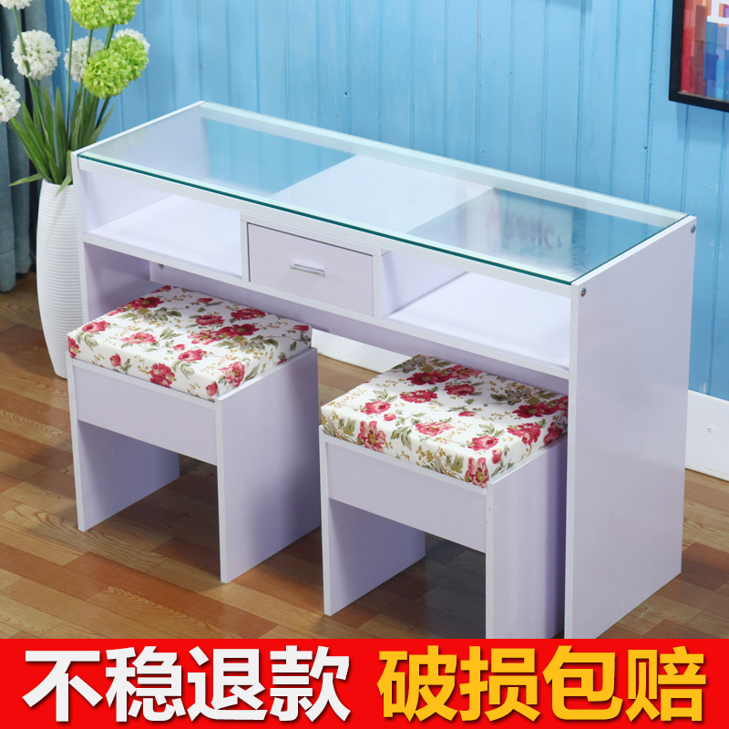 Simple modern nail table single double manicure table and chair nail ...