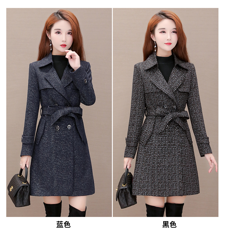Women's windshield 2020 new spring and autumn fashion Korean version show thin tie with double-row button small jacket jacket 53 Online shopping Bangladesh
