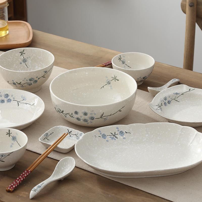 Bộ đồ ăn gia dụng Yatai của Nhật Bản vẽ tay bằng gốm sứ bát phở - Đồ ăn tối