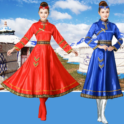 Chinese folk Mongolian dance performance costumes minority Inner Mongolia square dance performance dresses